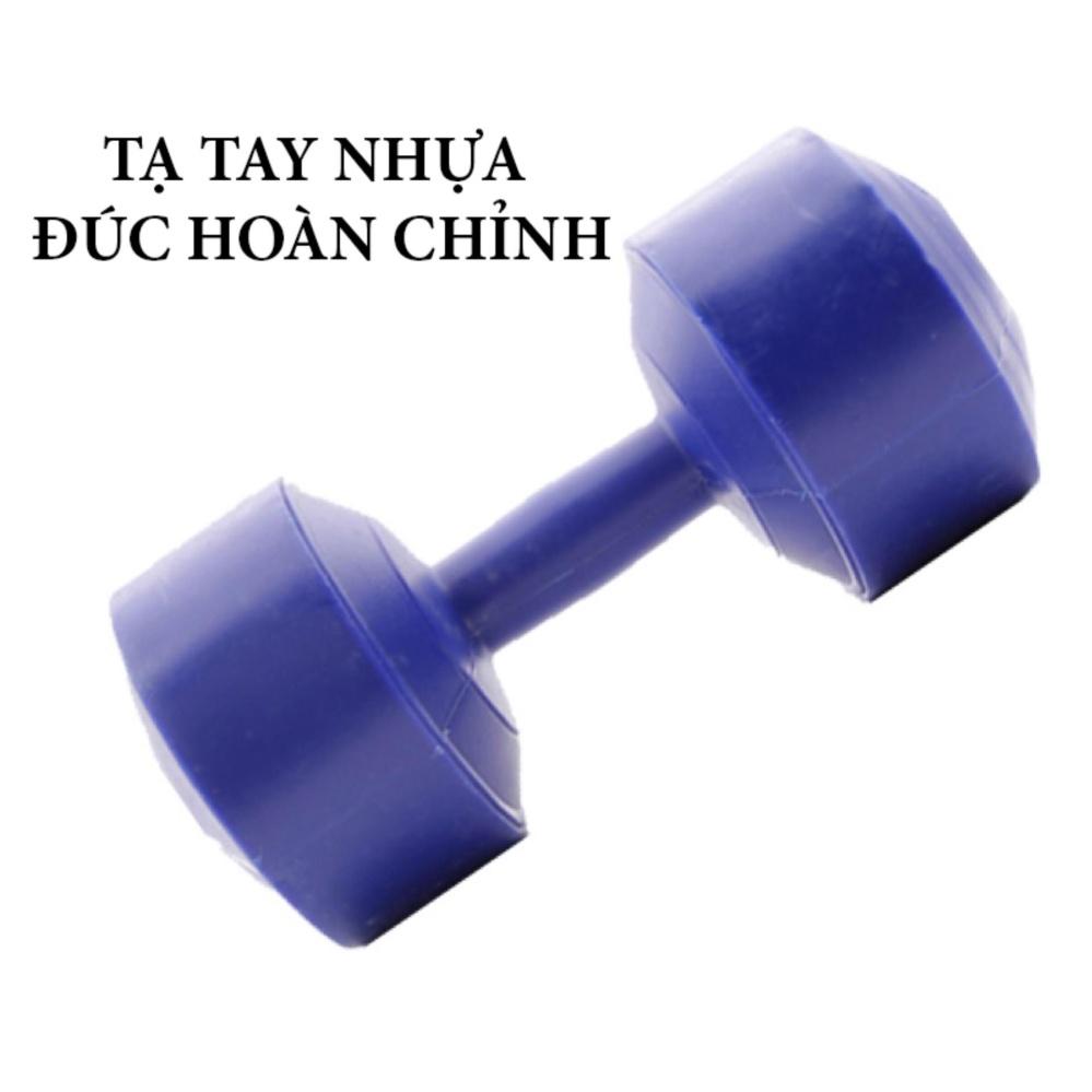 Tạ tay nhựa đúc hoàn chỉnh 5kg (Xanh dương)