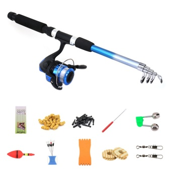 Telescopic Spinning Fishing Rod Kit Sea Saltwater Freshwater Fishing Rods with Reel Combos And Lines Fishing Tool Accessories - intl