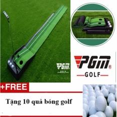 Thảm tập golf trong nhà loại 3m chiều dài có rãnh trả bóng về