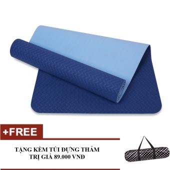 Thảm tập yoga 8mm 2 lớp TPE cao cấp (Xanh dương) - Kèm túi - 8757439 , SP849SPAA1NMBQVNAMZ-2735300 , 224_SP849SPAA1NMBQVNAMZ-2735300 , 530000 , Tham-tap-yoga-8mm-2-lop-TPE-cao-cap-Xanh-duong-Kem-tui-224_SP849SPAA1NMBQVNAMZ-2735300 , lazada.vn , Thảm tập yoga 8mm 2 lớp TPE cao cấp (Xanh dương) - Kèm túi