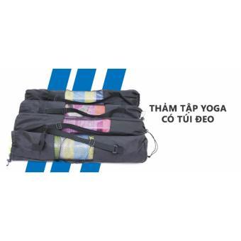 Thảm tập yoga cao cấp + Túi đeo thời trang