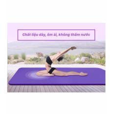 Thảm Tập Yoga Đa Năng Cao Cấp loại 10mm ( tím)Tặng Kèm Túi Loại Mới _ kích thước dài 1m75 x 61cm x10cm