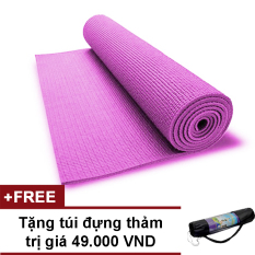 Thảm Tập Yoga Loại Cao Cấp Có Túi Đựng GreenNetworksGroup (Hồng)