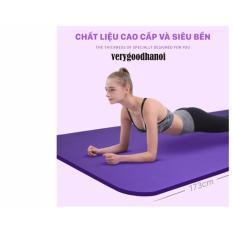 Thảm tập Yoga siêu bền loại dày 10mm cao cấp có túi đựng ( tím)