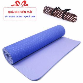 Thảm tập yoga TPE 6mm + Tặng túi đựng thảm cao cấp