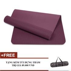 Thảm tập Yoga Zera TPE 1 lớp 8mm (Tím)