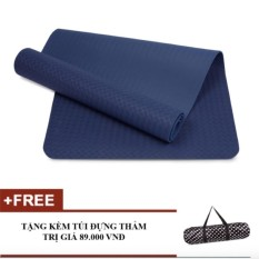 Thảm tập Yoga Zera TPE 1 lớp 8mm (Xanh Coban)