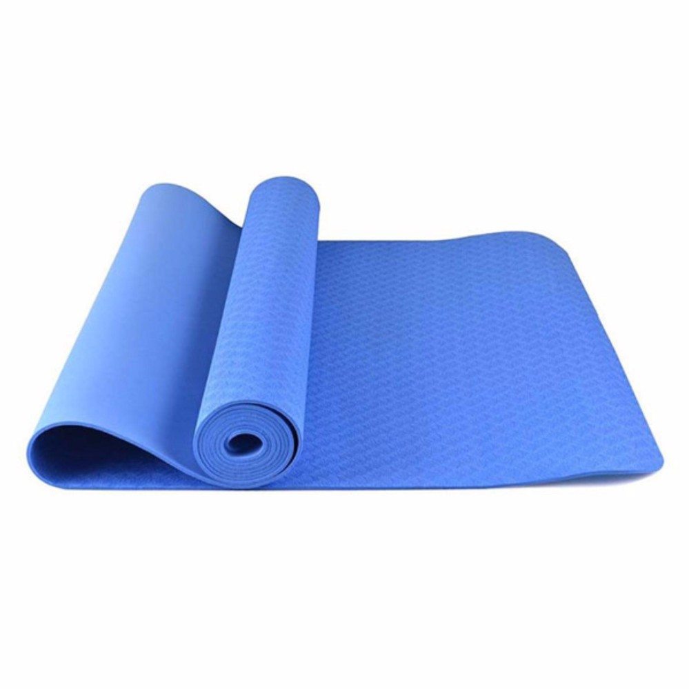 Thảm Tập Yoga TPE Cao Cấp 1 lớp 4mm [Xanh Dương]