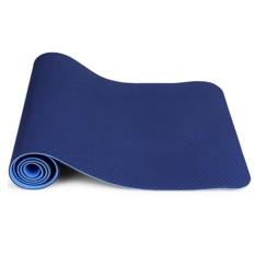 Thảm Tập Yoga Zeno TPE 2 Lớp (xanh navy)