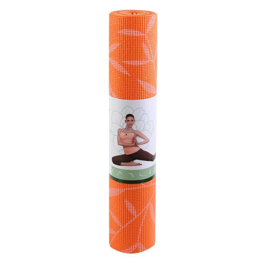 Hình ảnh Thảm yoga hoa văn Yogalink 6mm - Cam (kèm túi đựng)