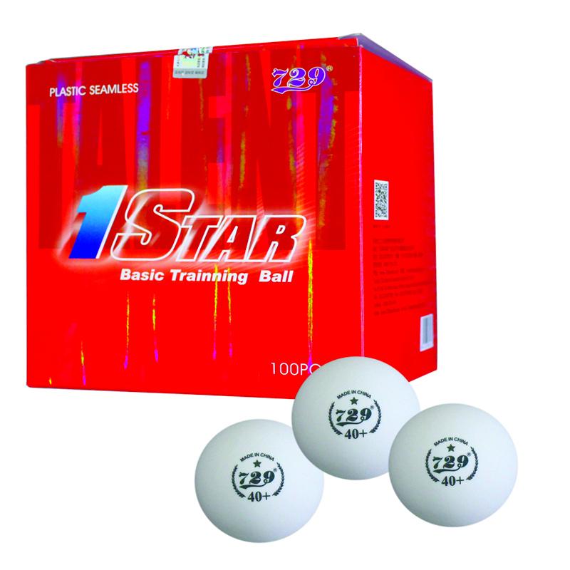 Thùng 100 trái banh bóng bàn 729 1 sao (40+) (Trắng)