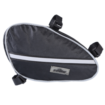 Triangle Cycling Front Tube Frame Pouch Black - intl