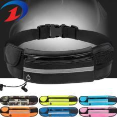 Túi Đai đeo bụng chạy bộ 3 ngăn có dải phát quang Loại 1 H103 (Hồng)