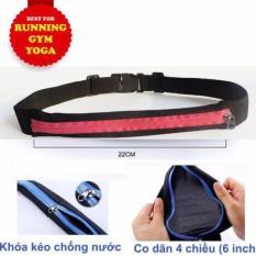 Túi đeo hông chạy bộ 1 ngăn khóa,đựng điện thoại, chống thấm nước, thoát mồ hôi, siêu nhẹ dùng cho chạy bộ, đạp xe, GYM, YOGA – POPO Sports THIEN PHUOC