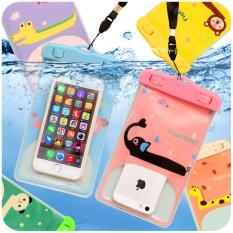 Túi đựng điện thoại chống nước hình thú ( màu + hình ngẫu nhiên dùng được cho đt từ 4 dến 6 in )