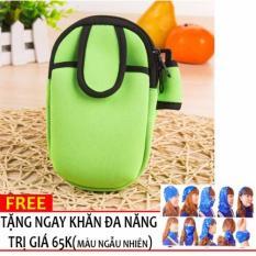 Túi đựng điện thoại đeo bắp tay, chơi thể thao,chạy bộ + Tặng khăn phượt N146