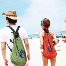 Túi lưới chống thấm nước đi biển kiểu dáng thời trang cá tính độc đáo – Xanh