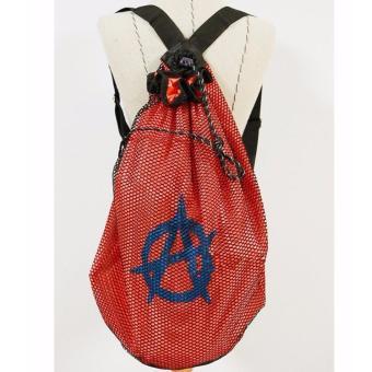 Túi lưới chống thấm nước đi biển kiểu dáng thời trang cá tính độcđáo_Cam