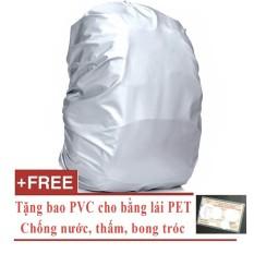 Túi trùm balo, vali chống mưa, chống bụi Joyce Vo JV135 (cho balo, vali từ 15 đến 30 lít) + tặng free bằng lái xe dạng PET dẻo trong