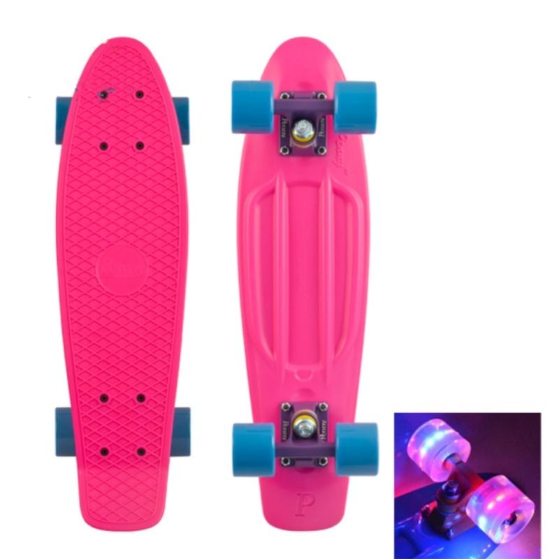 Ván trượt nhựa Penny Skateboards loại nhỏ (bánh xe có đèn)