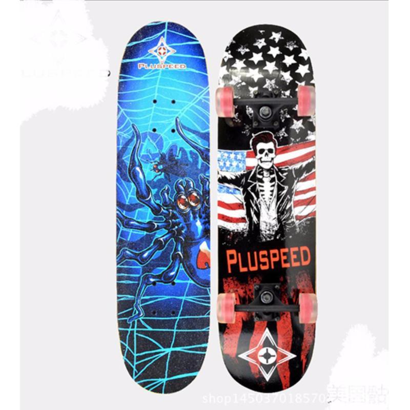 Ván trượt Skateboard cỡ lớn tiêu chuẩn thi đấu (Bánh xe có đèn LED)