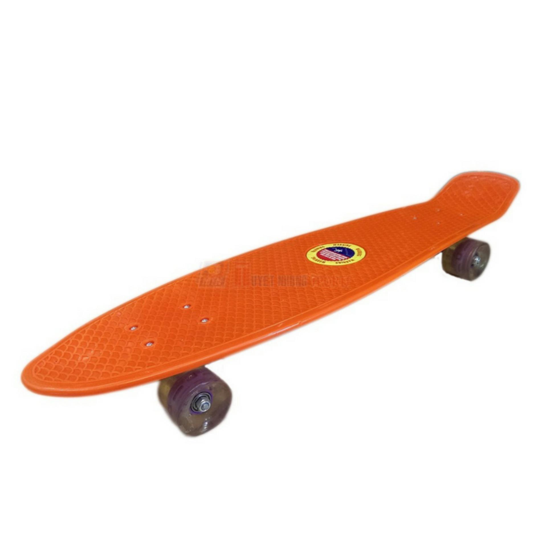 Ván trượt Skateboard Penny nhập khẩu cao cấp - tiêu chuẩn thi đấu - cam