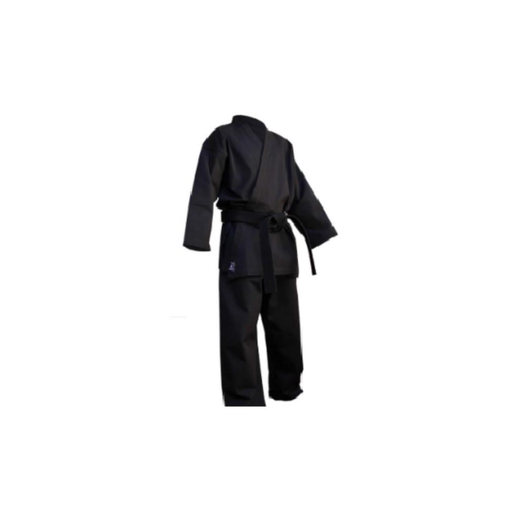 Võ phục Karate màu đen vải kaki