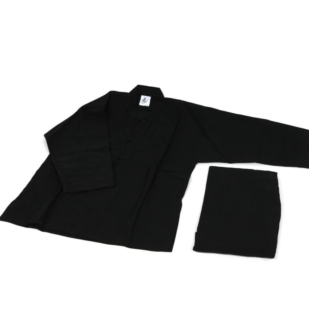 Võ phục quần áo dưỡng sinh màu đen giá rẻ