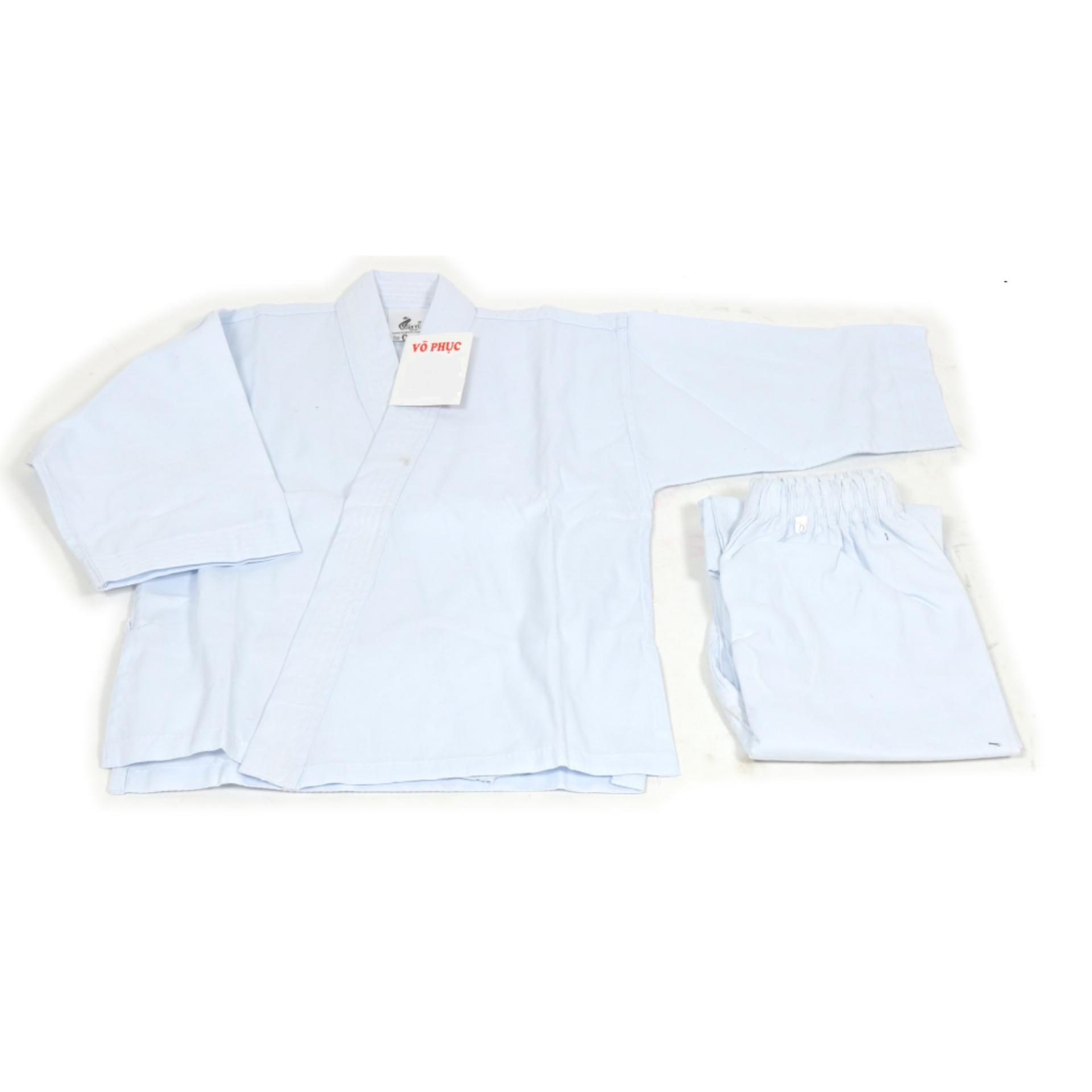 Võ phục quần áo Karate vải phin giá rẻ