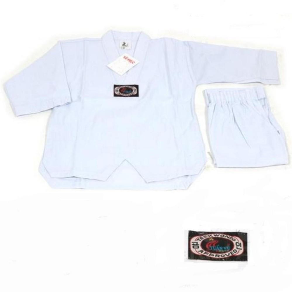 Võ phục quần áo Taekwondo vải phin giá rẻ