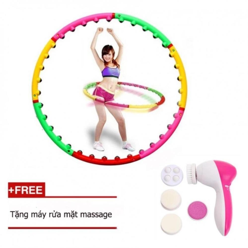 Vòng lắc eo giảm cân hoạt tính + Tặng máy rửa mặt massage 5 trong 1