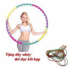 Vòng lắc eo – massage giảm mỡ bụng tặng dây nhảy thể dục kết hợp