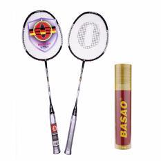 Bộ vợt cầu lông haotian 7725 tặng ngay 10 quả cầu lông Ba Sao tập luyện
