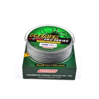 WWang 100M 2.0# 0.23mm Super Strong PE Braided Fishing Line25LBGray - intl