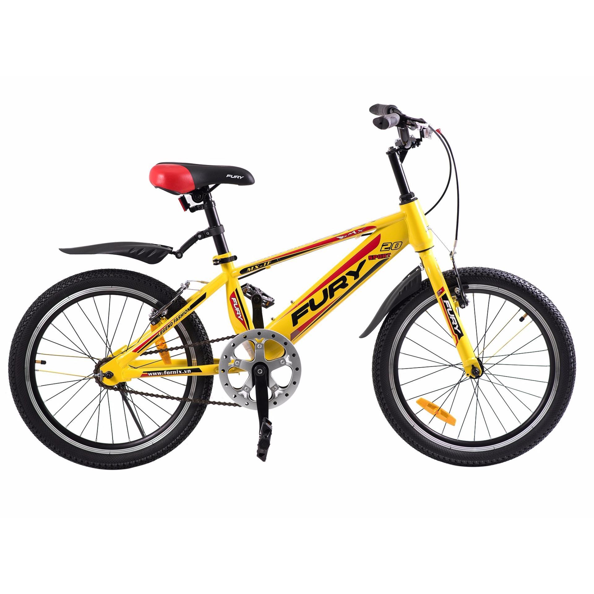Xe đạp BMX, hiệu FURY, mã MX-1F ( vàng đỏ )