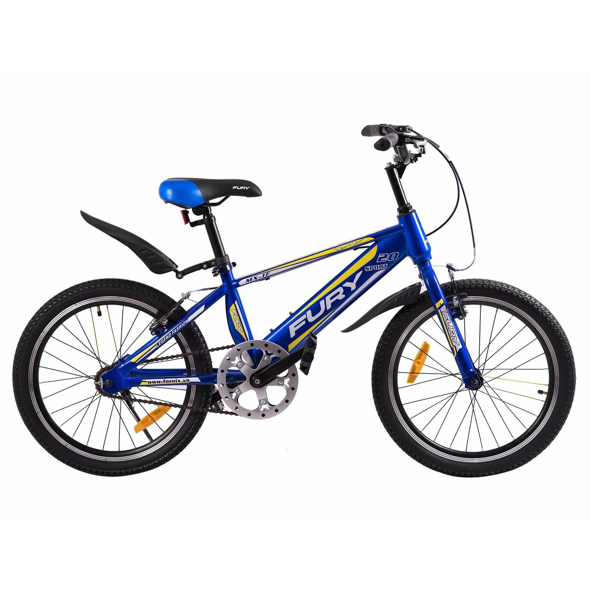 Xe đạp BMX, hiệu FURY, mã MX-1F ( xanh vàng )