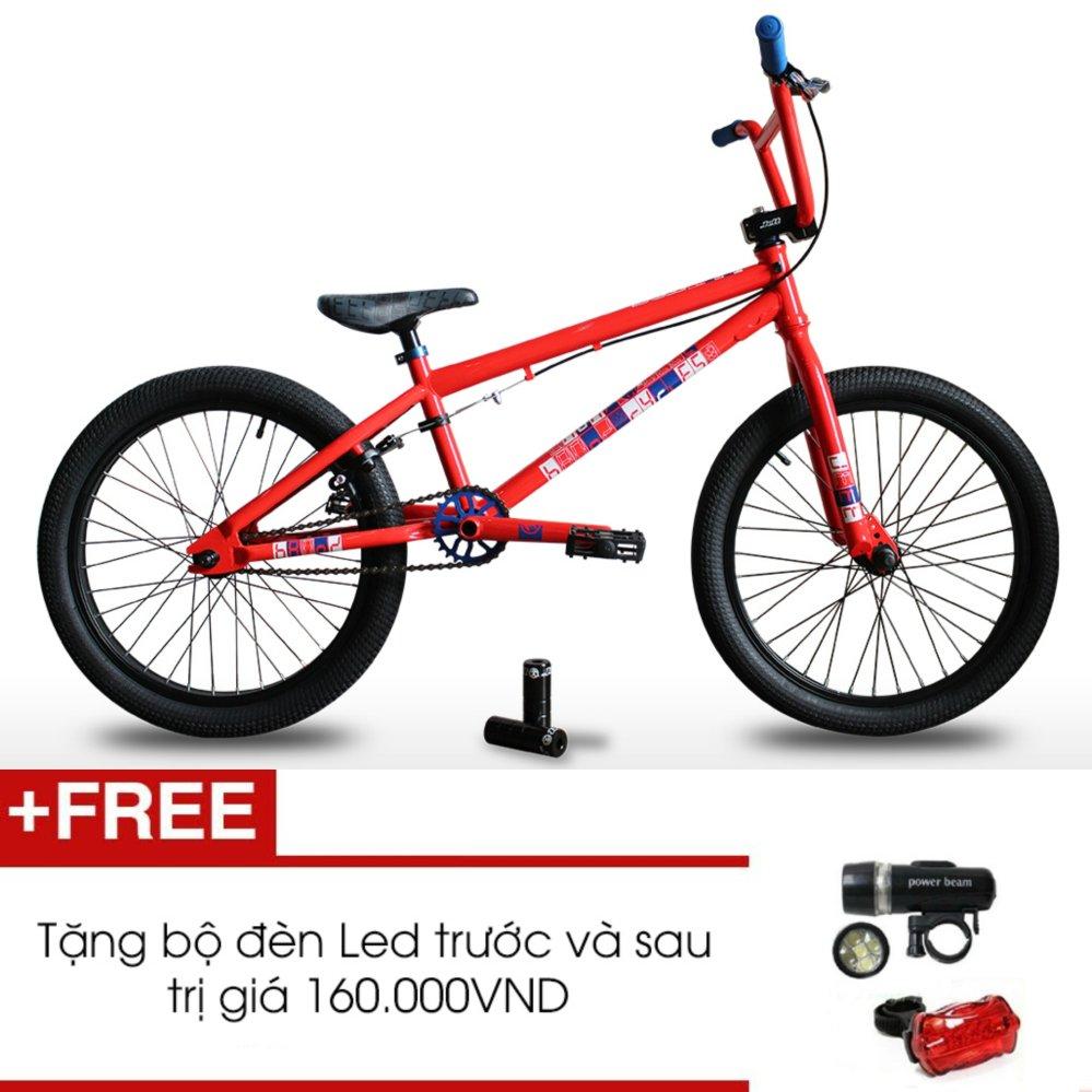 Xe đạp BMX JETT BRONX 201 (Đỏ) + Tặng 1 bộ đèn Led trước và sau