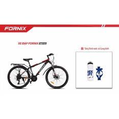 Xe đạp địa hình Thể Thao Fornix- BM703- màu đen đỏ + Tặng Gọng - Bình nước