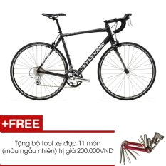 Xe đạp đua Cannondale CAAD SYNAPSE 8 CLARIS (Đen) + Tặng 1 bộ Tool xe đạp 11 món màu sắc ngẫu nhiên