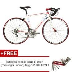 Xe đạp đua JETT MATCH 1.0 WHT (Trắng) + Tặng 1 bộ Tool xe đạp 11 món màu sắc ngẫu nhiên