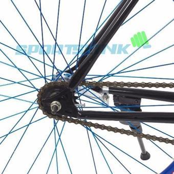 Xe đạp Fixed Gear Single (Đen phối xanh) - SAMSUNG CONNECT