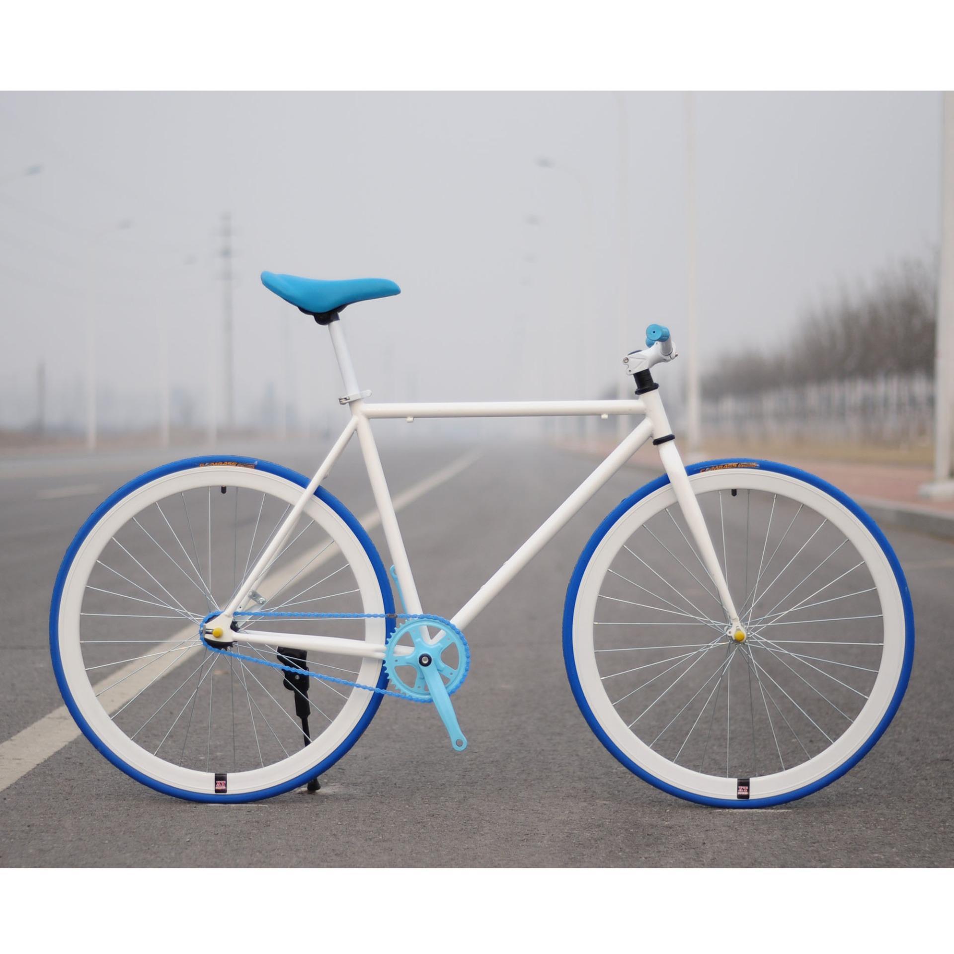 Xe đạp Fixed Gear Single Speed (Trắng vành trắng)