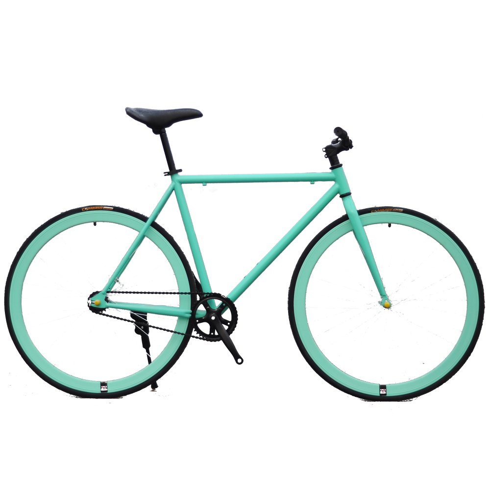 Xe đạp Fixed Gear Single Speed (Xanh ngọc)