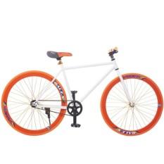 Xe đạp Fixed Gear Single (Trắng phối cam)