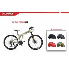 Xe đạp gấp địa hình thể thao Fornix F3 (Xanh lá đen)+ tặng nón bảo hiểm
