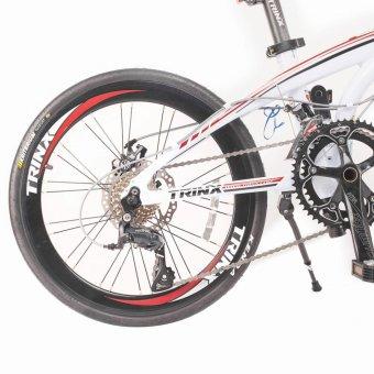 Xe đạp gấp TRINX DOLPHIN3.0 2016 (Trắng đỏ) + Tặng 1 bộ Tool xe đạp 11 món màu sắc ngẫu nhiên