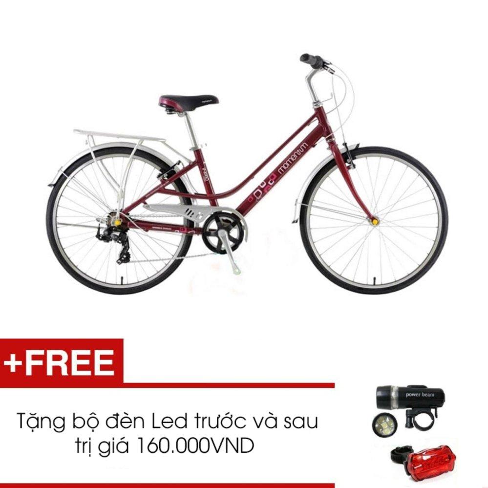 Xe đạp GIANT MOMENTUM INEED 1500 (Đỏ) + Tặng 1 bộ đèn Led trước và sau