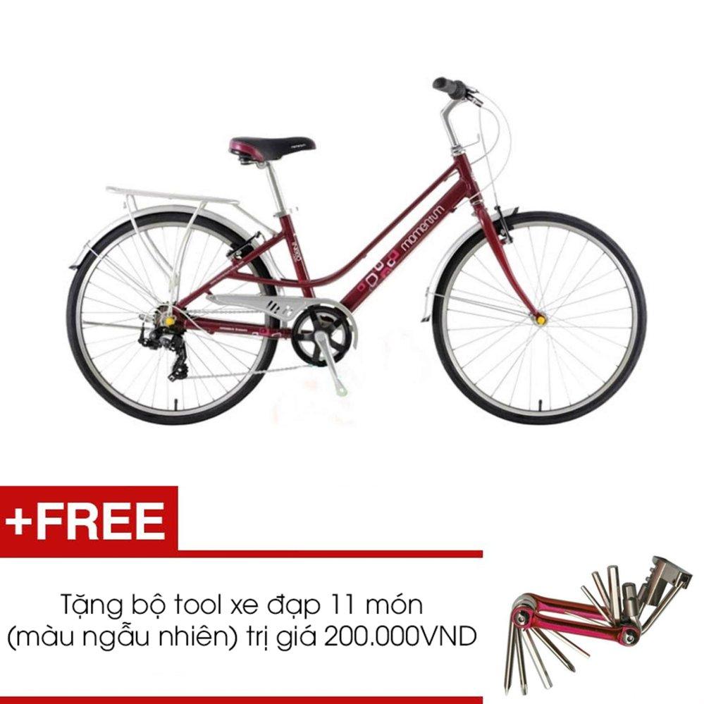 Xe đạp GIANT MOMENTUM INEED 1500 (Đỏ) + Tặng 1 bộ Tool xe đạp 11 món màu sắc ngẫu nhiên