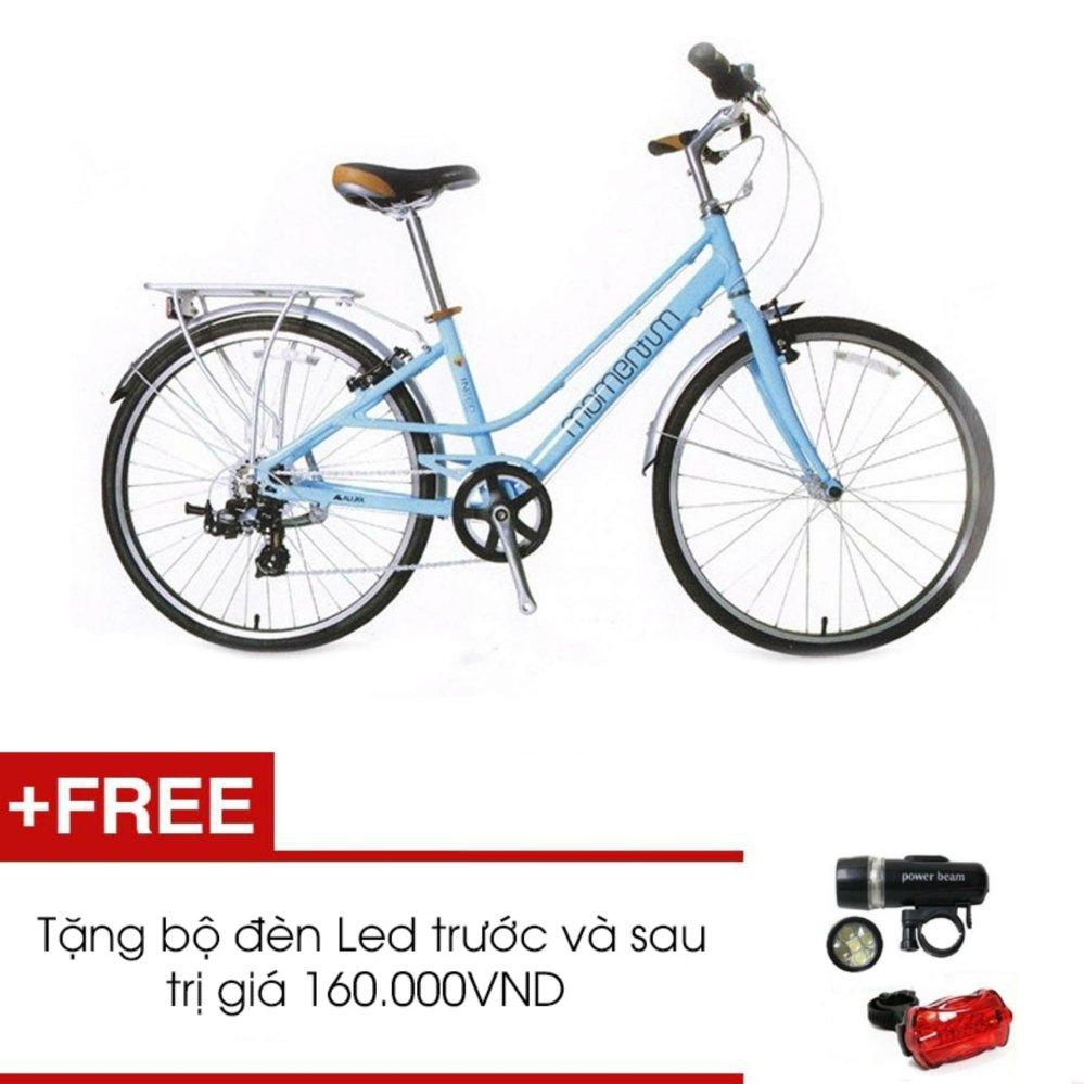 Xe đạp GIANT MOMENTUM INEED 1500 (Xanh) + Tặng 1 bộ đèn Led trước và sau