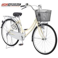 Xe đạp Nhật Bản Maruishi CAT2611 (hồng, kem, bạc, xanh)